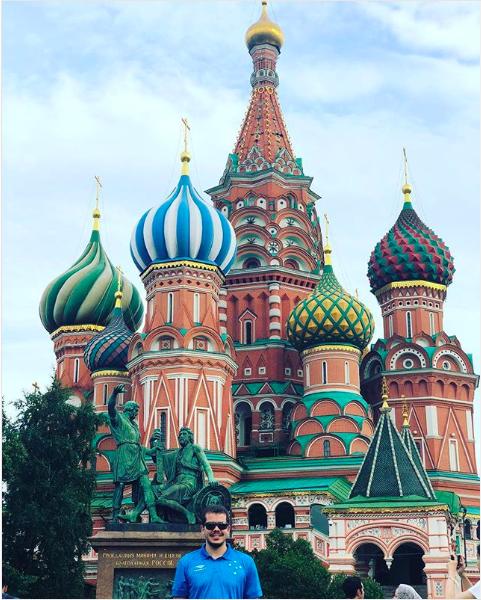 Vitor Brixi na Rússia durante a Copa do Mundo