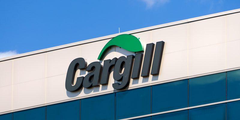 Fachada da sede corporativa da empresa Cargill nos EUA.