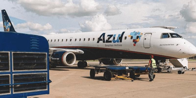 avião da azul linhas aereas