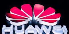 logomarca da fabricante de smartphones Huawei