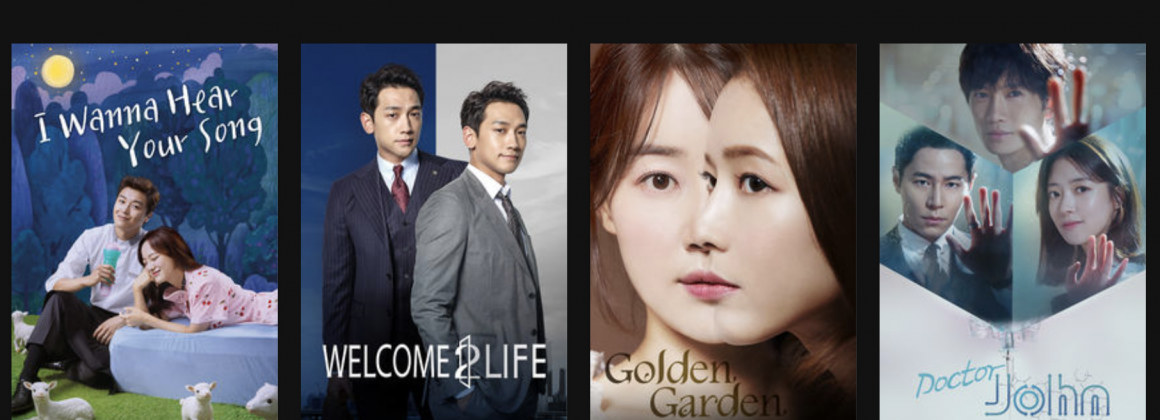 Posters de filmes do streaming sul-coreano Kocowa