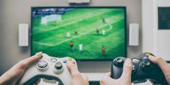 jovens jogando video game