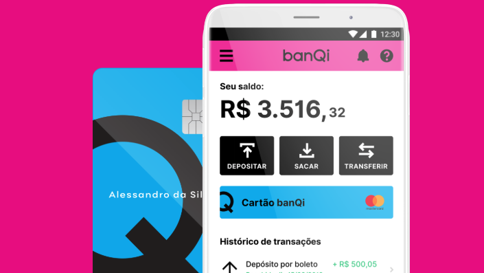 logomarca do BanQi, banco digital da Via Varejo