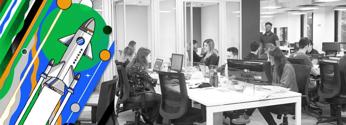 funcionários da startup CargoX