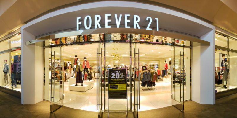 Uma das lojas da Forever 21 nos EUA.