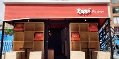 Um dos quatro pit stops da Rappi em Bogotá.