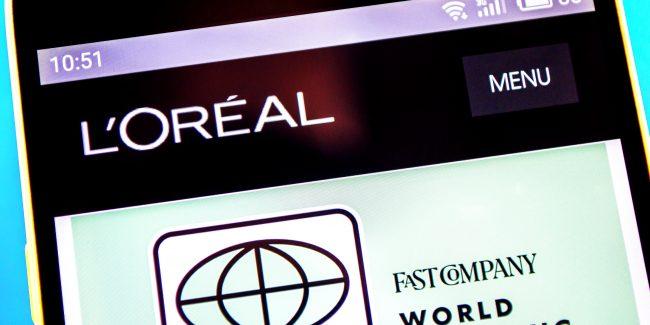"""Site da marca de cosméticos L""""Oréal."""