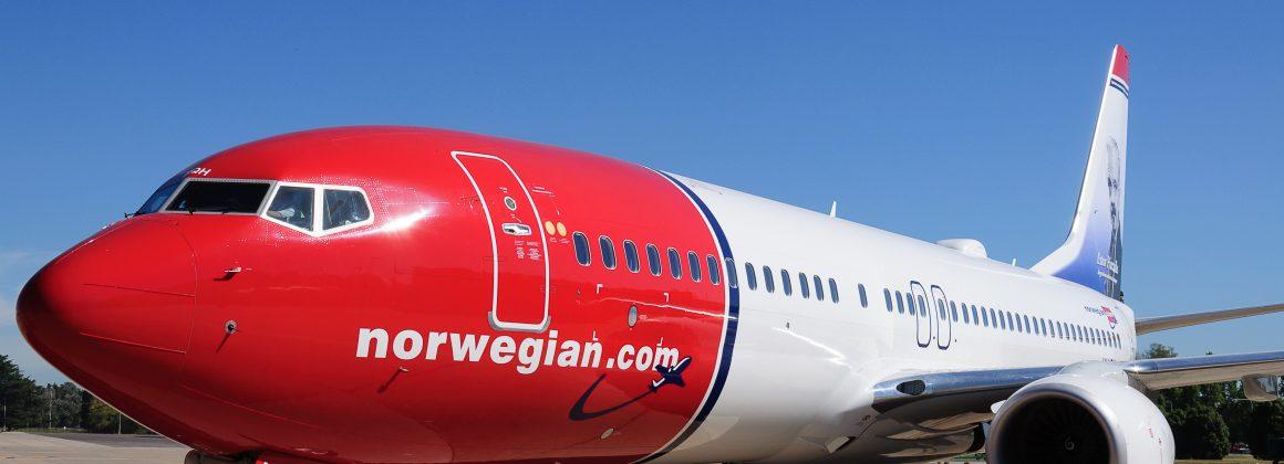 um avião da Nowergian