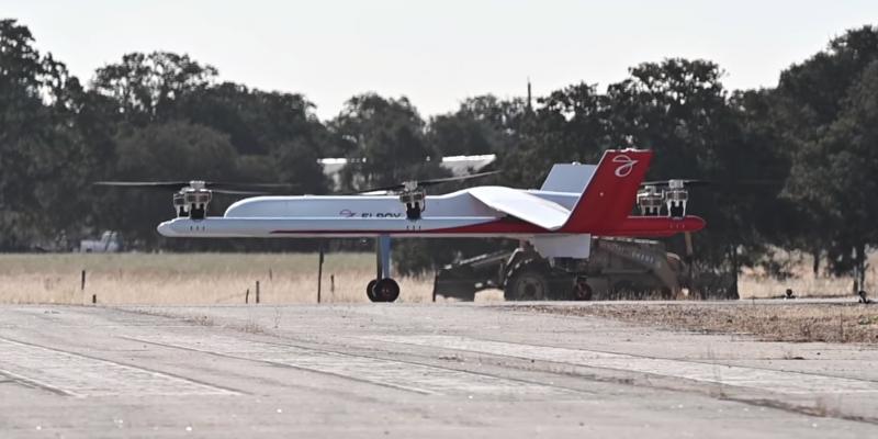 Aeronave da Elroy Air, Chaparral, de transporte de cargas autônomo