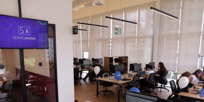 Novo escritório do QuintoAndar em São Paulo.