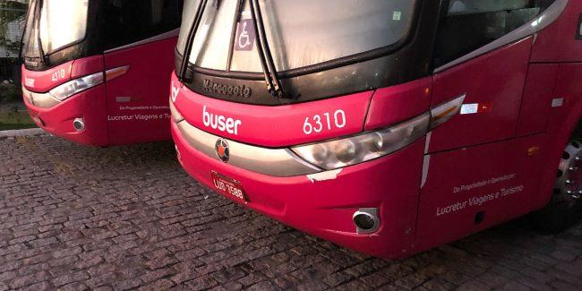 Ônibus da startup Buser