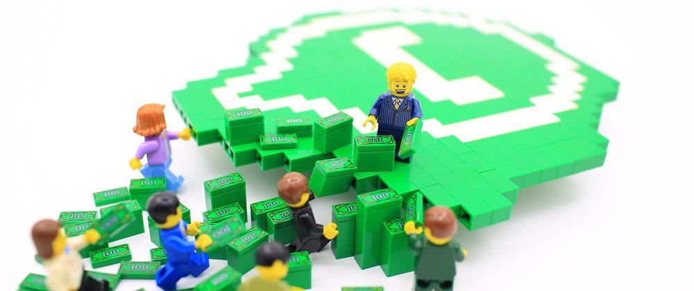 ícone do whatsapp em forma de peças de lego