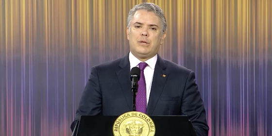 presidente da Colômbia Iván Duque