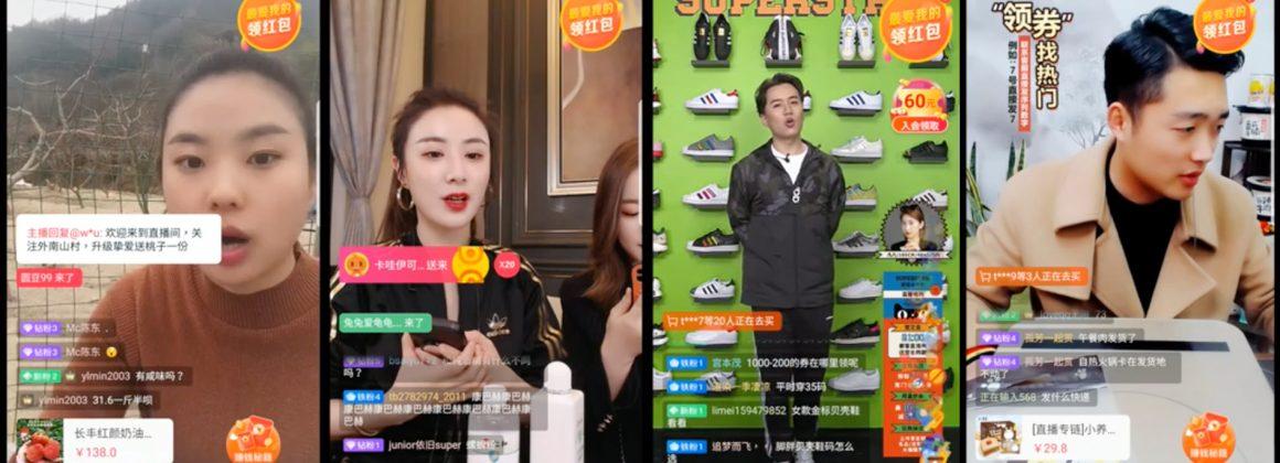 Lives na plataforma doméstica de comércio eletrônico do Alibaba, Taobao.