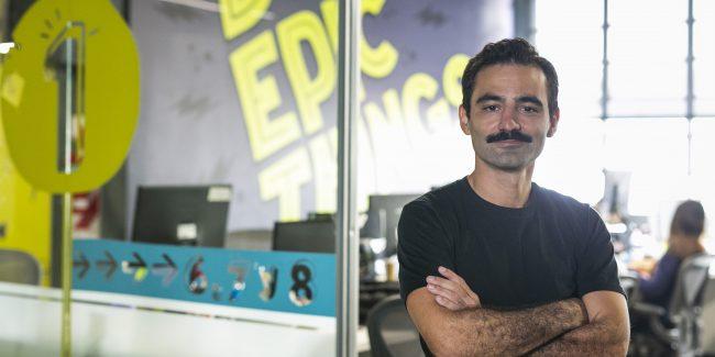 O CEO e fundador da etermax, Maximo Cavazzani.