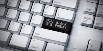 computer with a Black Friday stamp