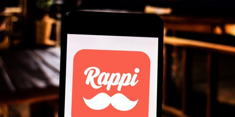 Colombian app Rappi logo on smartphone screen