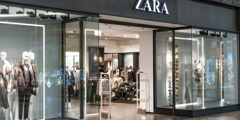 Zara's profits increased by 10%
