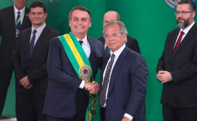 Jair Bolsonaro and Paulo Guedes, Minister of Economy