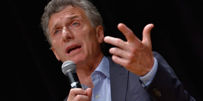 Mauricio Macri president of Argentina