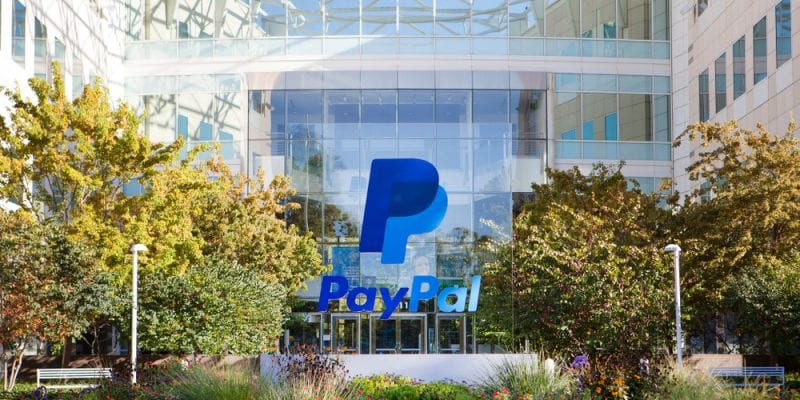 Exterior view of PayPal headquarters in Silicon Valley.