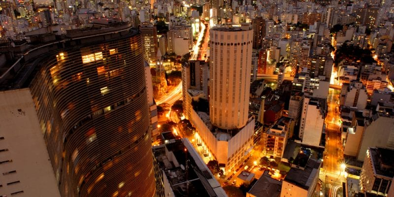 The view of the Brazilian city Sao Paulo