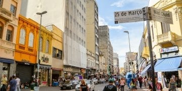 shops in the street of sao paulo