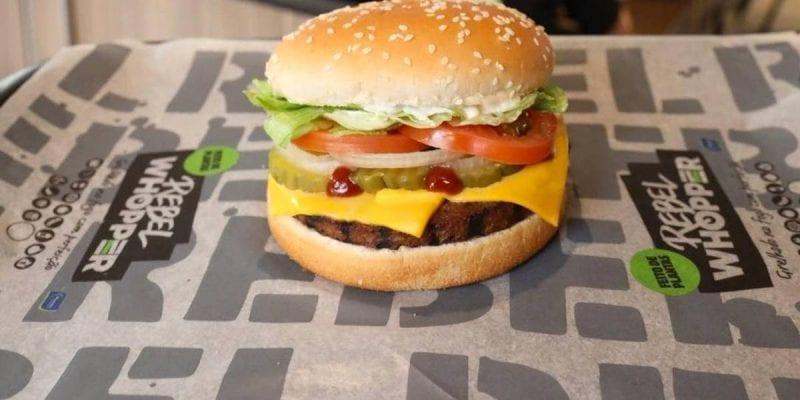 Rebel Whooper Marfrig's burger on Burger King