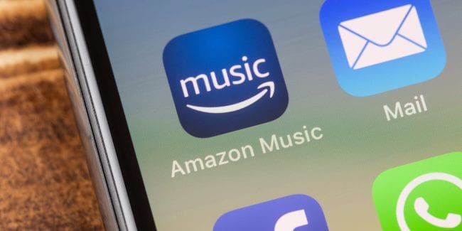 Amazon Music app in a smartphone