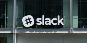 slack's shares drop