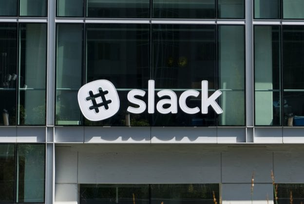 slack's shares drop