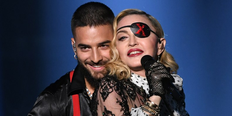 Madonna and Maluma presenting on Billboard awards 2019