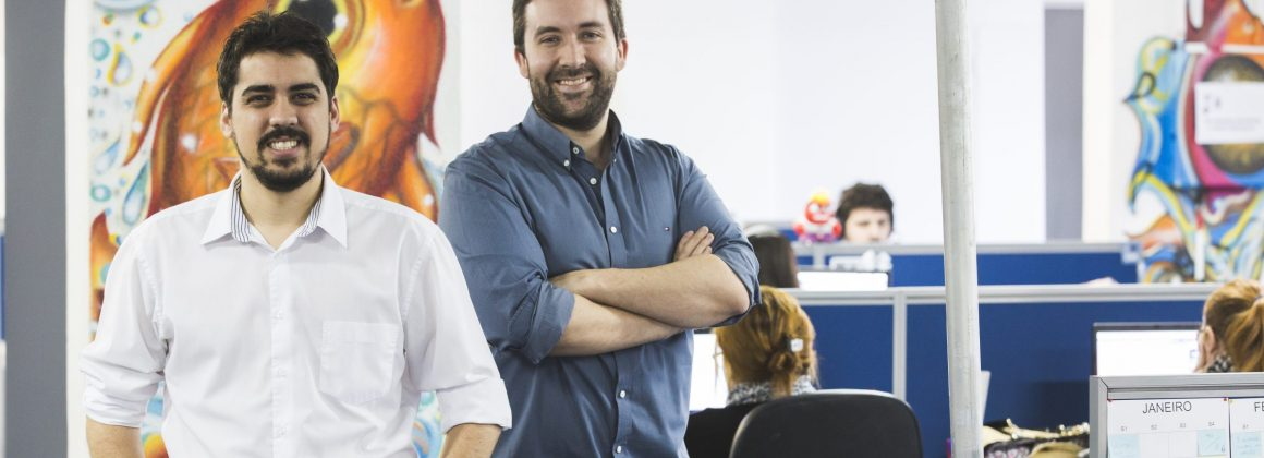 Théo Orosco e Felipe Roman, co-founders of the Brazilian startup Exact Sales.