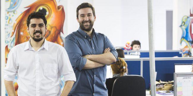 Théo Orosco e Felipe Roman, co-founders of the Brazilian startup Exact Sales.