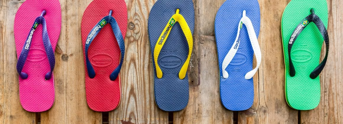 Sandals from the Brazilian brand Havaianas.