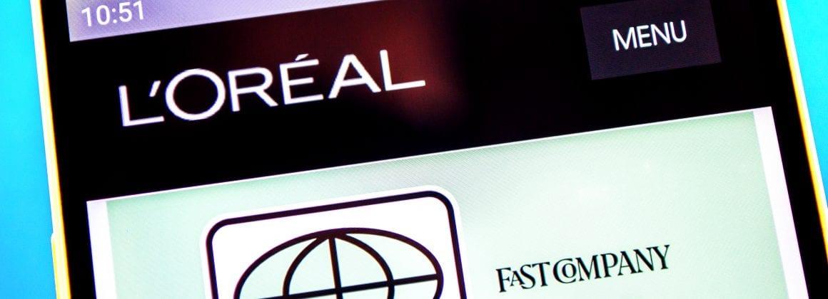 L'Oréal's app.