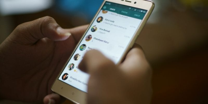 WhasApp app on smartphone screen