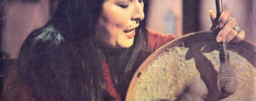 Mercedes Sosa, Latin American singer, in 1972
