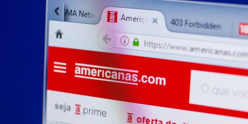 Brazilian retailer Lojas Americanas's website