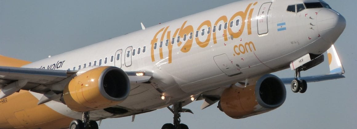 Flybondi's airplane
