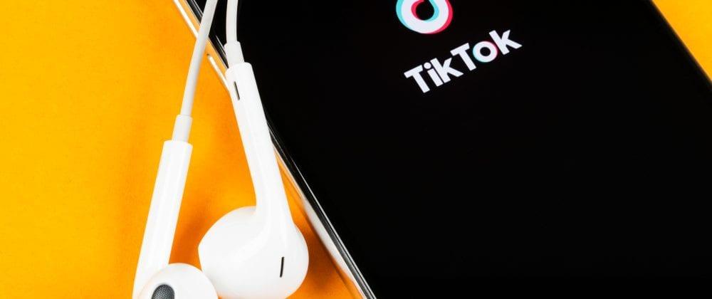 Video sharing social media TikTok logo on smartphone screen