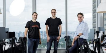 Loft's co-founders (from right to left) João Vianna, Florian Hagenbuch and Mate Pencz.