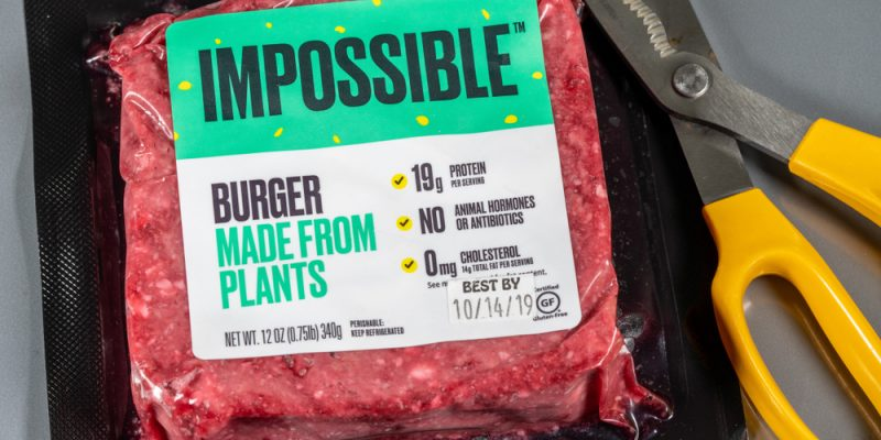 The famous Impossible Burguer, by Impossible Foods.