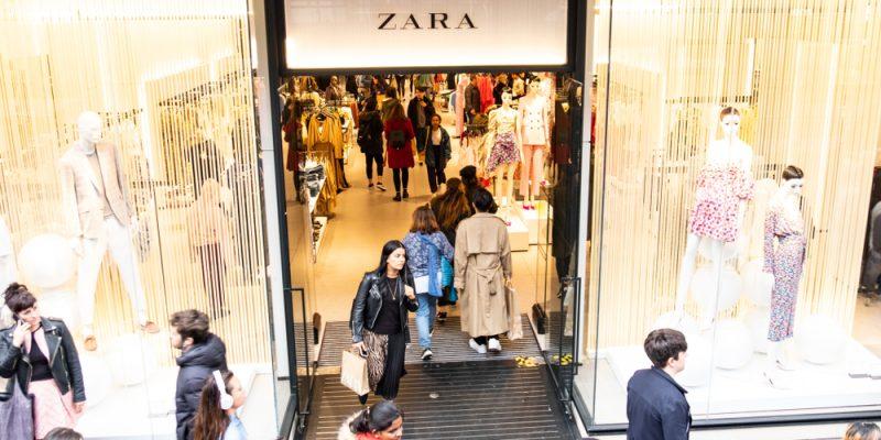Zara's physical store