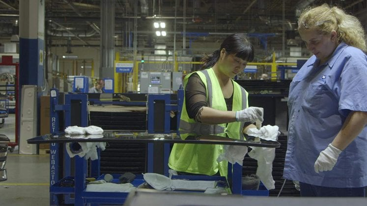 Scene from the documentary American Factory