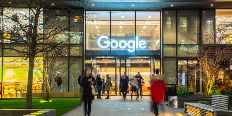 Google's stocks were 4% down