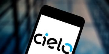 Brazilian Cielo brand displayed in a smartphone