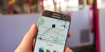 Uber application on Samsung S7. Uber Technologies Inc. is an American technology company headquartered in San Francisco, California, United States