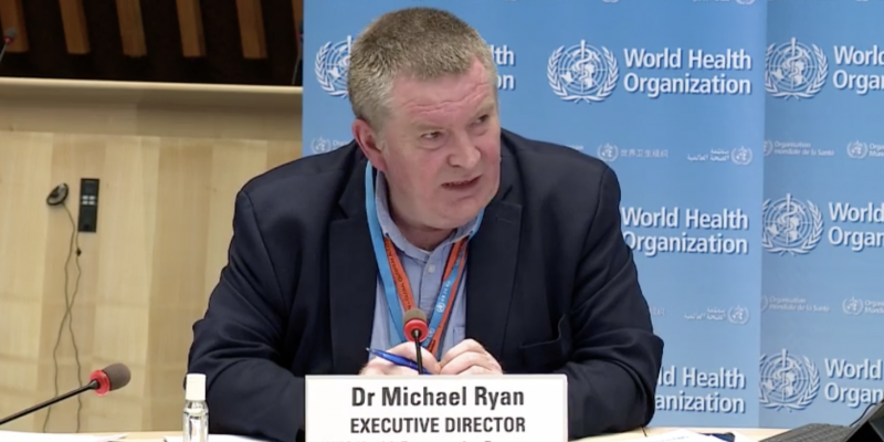 The director of the World Health Organization (WHO) emergency program, Michael Ryan