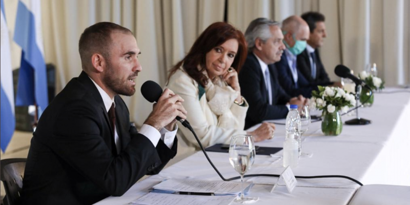 The Argentine economy minister Martín Guzmán